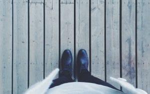 Deck Safety - feet standing on deck