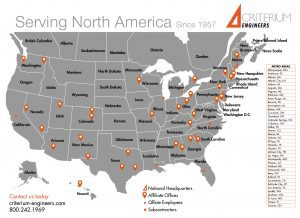 North America map of Criterium Engineers offices & subcontractors